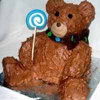 Teddy Bear Cake This was my first upright cake and I think it turned out pretty well.