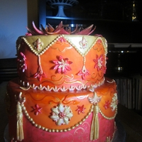 Indian Wedding Cake After doing my first all buttercream wedding cake, I kicked it up a notch and moved forward with an Indian themed cake. Completely covered...