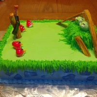 "'angry Birds' Birthday Cake based on the online-game, ""Angry Birds"". I had never heard of it before, so a little 'research' (and by that I..."