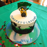 Minion Graduation - High School High School Graduation for Niece. She loves minions! Silhouette was to stand on own beween cake and year but we had a huge rainstorm that...