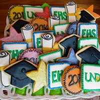 Graduation Cookies Butter cookies with Glace and Buttercream icing.