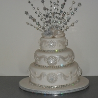White Wedding   A picture of my most recent cake would love your feedback.