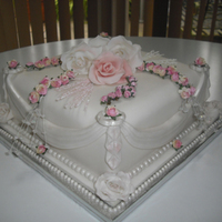 Wedding Cake Single tier wedding cake