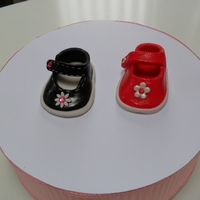 Sugarpaste Baby Shoes Sugarpaste baby shoes cake toppers