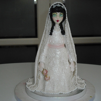 Sugarpaste Bride Doll Sugarpaste bride doll used cuttlebug folder for dress