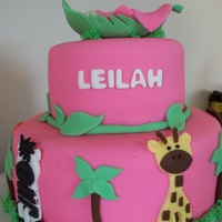 "6 Amp 10 Triple Layer White Cakes Filled With Vanilla Buttercream Fondant Covered And Fondant Animals Buttercream Grass My First A 6"" & 10"" triple layer white cakes, filled with vanilla buttercream. Fondant covered and fondant animals. Buttercream grass...."