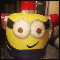 Bee Do Minion As Requested For A Birthday 6 Layers Of Chocolate Cake Separated By Buttercream Icing Modeling Chocolate And Fondant Acce Bee do Minion as requested for a birthday. 6 layers of chocolate cake, separated by buttercream icing. Modeling chocolate and fondant...