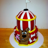 Scooby Doo Carnival Cake For a carnival theme birthday party. The little girl also wanted scooby doo on the cake. So this is what I came up with. The Scooby Doo and...