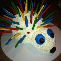 Rainbow Spikes This is the most random cake that I have ever made. It was for a rainbow birthday party. The birthday girl had her mom send me a photo to...
