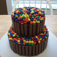 Candy Barrel Cake 2 tier candy barrel cake