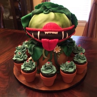 Little Shop Of Horrors - Audrey Ii This is an Audrey II cake (and cupcakes) I made for my daughter's high school production of Little Shop of Horrors. The bottom (...