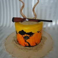 African Hunt This is a safari cake I did for a guy who is going on a African hunt in the summer. The horns on top are Kudu horns which he will be...