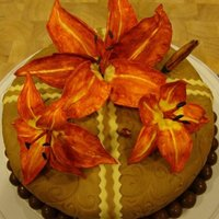 Tiger Lillies This is my first attempt at making flowers. I used a gumpaste/fondant mix. I made this cake for my daughter's 18th birthday (She loves...