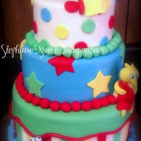 Sesame Street Baby Shower Cake Vanilla and chocolate cake. Thanks for looking!