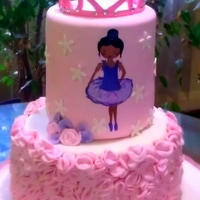 Hand Painted African American Ballerina I created this cake for my soon to be niece's dance school. The school's first recital was yesterday. The girls were absolutely...