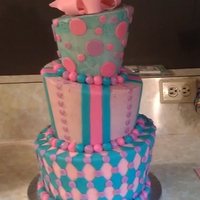 My First Topsy Turvy! Had a great time making my first topsy turvy cake. I was so glad it didn't fall over!