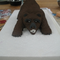 Grizzly Bear made from rkt, fondant, and wire
