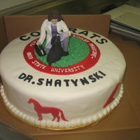 Veterinarian Graduation All done with Satin Ice, grass is BC.