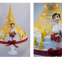 Myanmar Cake   To celebrate a beautiful country , beautiful people , wonderful trip