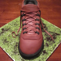 Hiking Boot My first shoe cake. Vanilla cake with marionberry buttercream. Very fun to make!