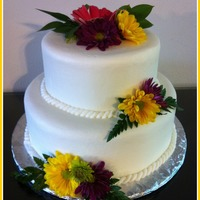 2 Tier W/natural Flowers