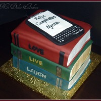 Books & Kindle Cake