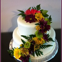 Two Tiers W/ Natural Flowers