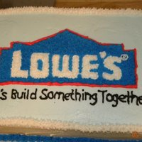 Lowes Cake Made this one for my husband to take to work. He wanted to show off my cake decorating...