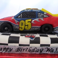 Nascar Car #95 This is an officially commissioned NASCAR car #95 cake for Leavine Family Racing.
