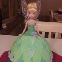 Tinkerbell I made this cake for my granddaughter she love's tinkerbell.