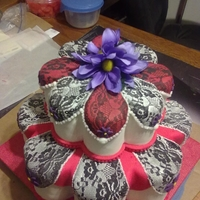 Lace Pattern Lace Cake I entryed in the Yuma County Fair April 2 20012