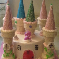 Castle Cake granddaughter 2 birthday cake