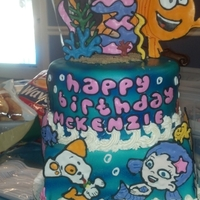 Kenziesbubbleguppies This cake has to be one of my all time favs I've ever done! It turned out so awesome! all the characters and seaweed is royal icing....