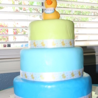 "Baby Boy Duck Cake I made this cake for the ""Sip & See"" we had after my son was born."