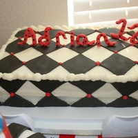 Checker Cake For my nephew's 12th birhtday. He and his brother (who turned 1) had their birthday party together so I wanted it to match the pirate...