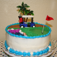 Fathers Day Cake Golf themed cake for my father-in-law.