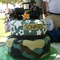 Army Birthday Cake My cousin's son is really into the Army since his mom was in the Army and his dad currently serves.