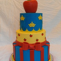 Snow White Cake Design Was Copied From A Photo The Client Sent Buttercream With Fondant Decorations Snow White Cake. Design was copied from a photo the client sent. Buttercream with fondant decorations.