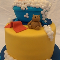 Baby In A Tub 2 This cake was made for a baby shower matching the splish splash theme. TFL!