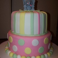 Baby Elephant Finally, I got to do a girly cake! All marshmallow fondant.