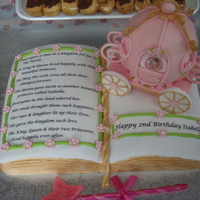 Princess Book Cake I did this cake for my daughter's second birthday. Inspired by linstead from on here. No where near as good as hers but was happy with...