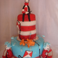 Cat In A Hat Cake This is my Cat in a Hat cake that I made for my daughters 4th birthday who is a BIG fan. Its a chocolate mud filled with SMBC and the...