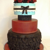 Gwen Stefani Inspired i made this for The Sweet Times in the Rockies Colorado Sugar Art Show. I won first place for tiered cakes and best in my division. I love...