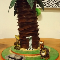 First Birthday Palm Tree Made for my nephews 1st birthday. Figures made from modeling chocolate and leaves from gumpaste. I flew all the from Colardo to Ohio with...