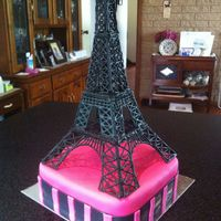 Eiffel Tower Made From Royal Icing Eiffel Tower made from Royal Icing.