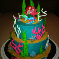 Little Mermaid Cake Made for my daughter's 5th