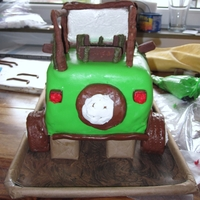 "Jeep Cake A friend of mine was having a little boy, they enjoy the jeep that her husband drives so her friends threw her a ""Jeep"" baby..."
