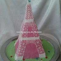 Eiffel Tower For the class of my daughter. The tutoriel here http://les.exquises.de.fartote.over-blog.com/article-comment-faire-un-gateau-en-forme-de-...