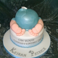 Baby Boy cute baby boys bum cake, christening or baby shower