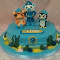 Octonauts sponge cake with the characters from octonauts, adapted from sue fields cake